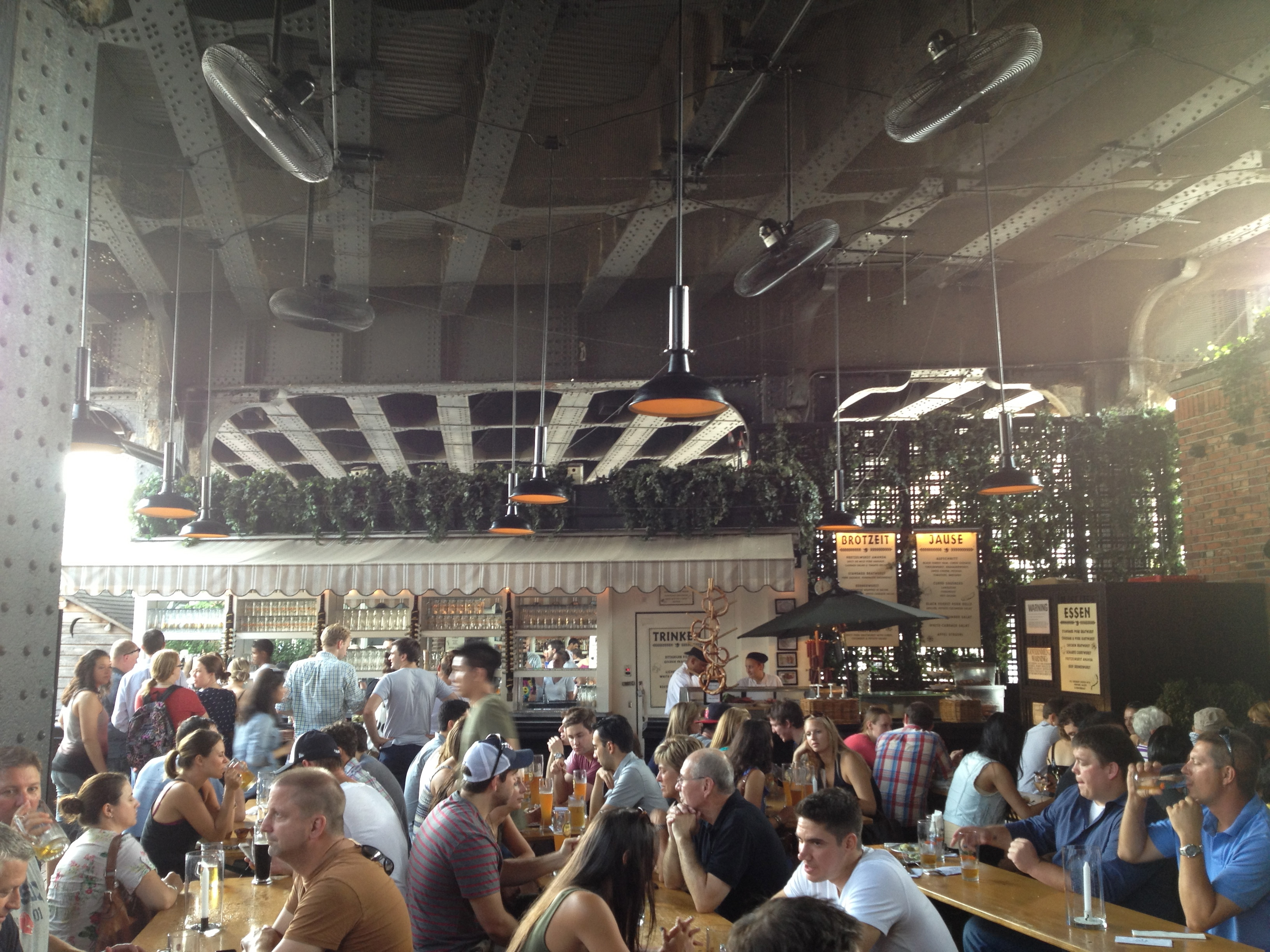 Manhattan Beer Garden At The Standard Here And There
